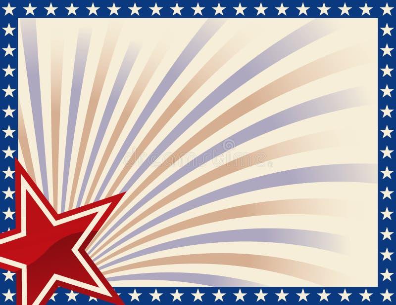 Blocco per grafici patriottico con le stelle illustrazione vettoriale