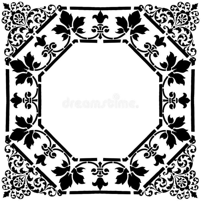 Blocco per grafici quadrato del Victorian fotografia stock