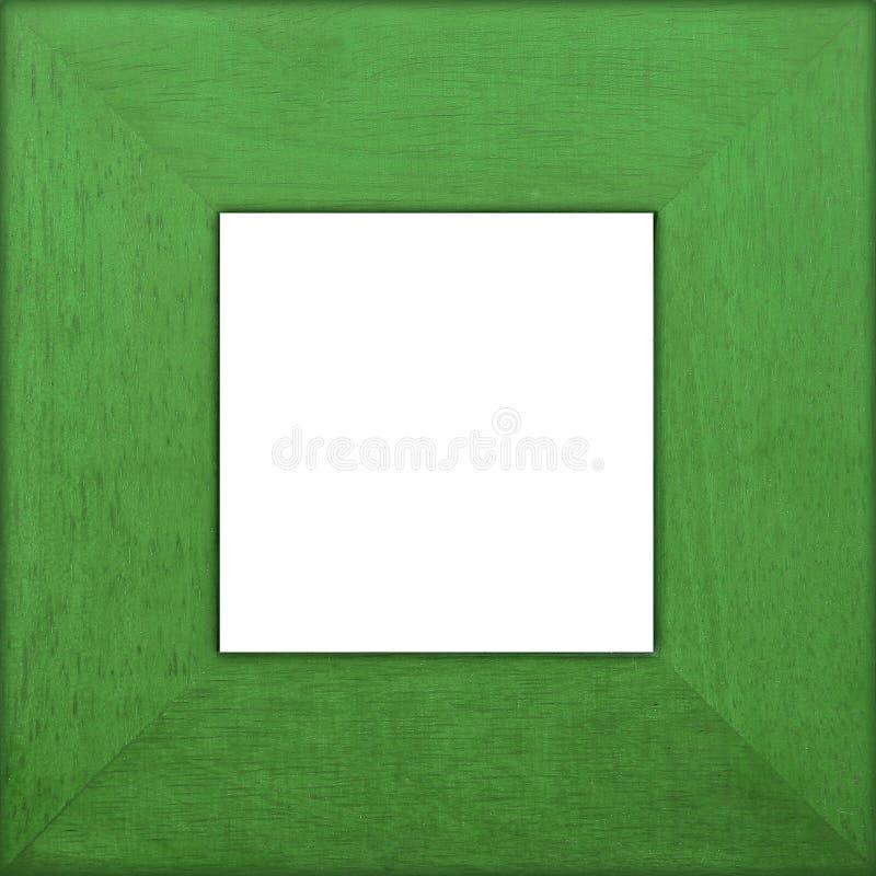 Blocco per grafici quadrato di legno verde immagine stock