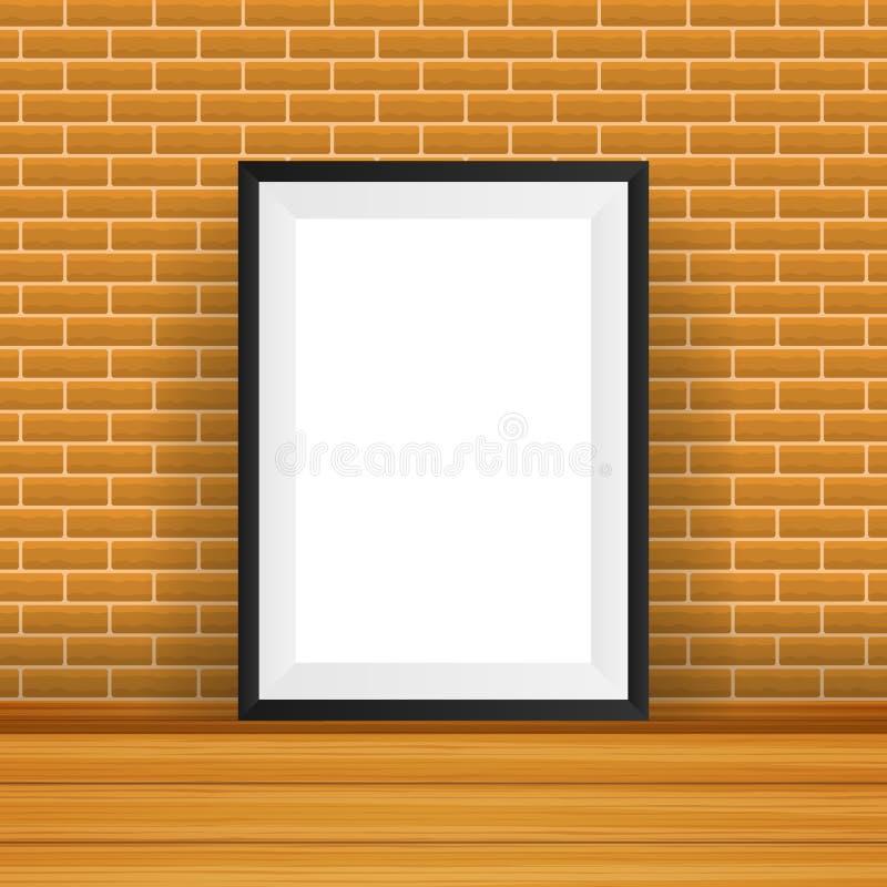 Blocco per grafici rettangolare Buon per esposizione i vostri progetti Spazio in bianco per la mostra royalty illustrazione gratis