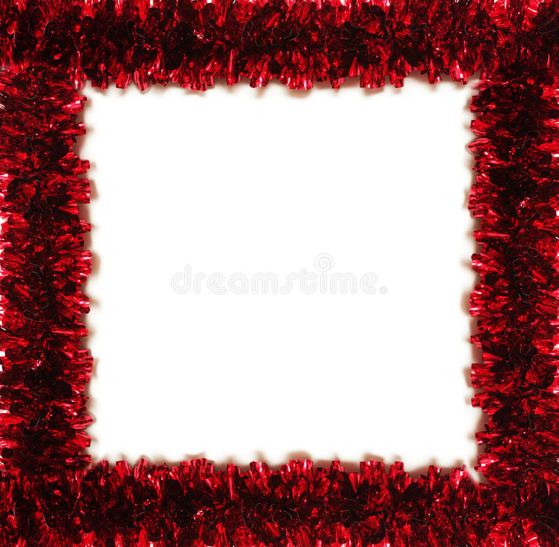 Blocco per grafici rosso della canutiglia isolato su bianco (posto per testo fotografia stock