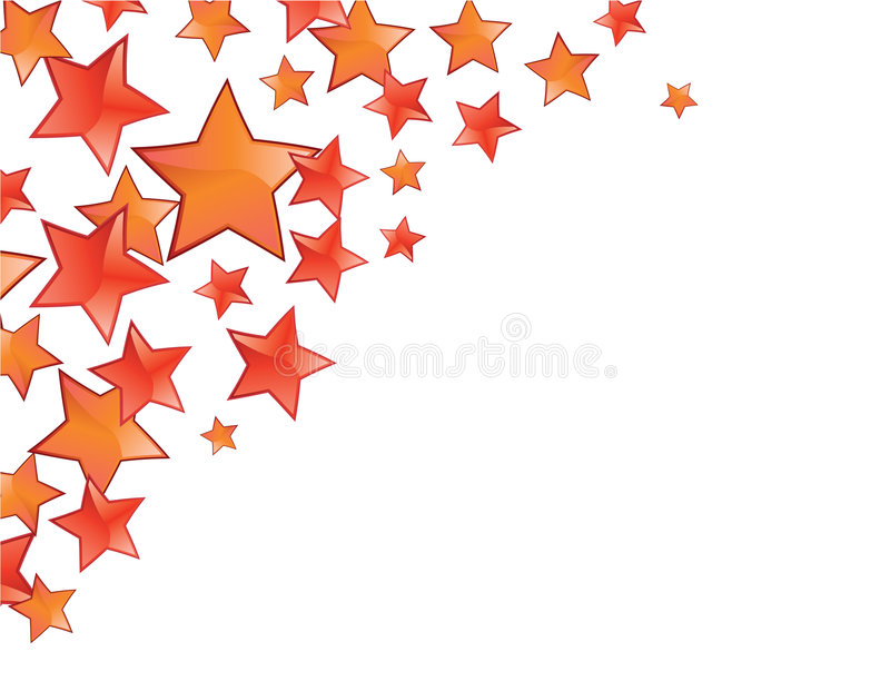 Blocco per grafici rosso delle stelle illustrazione di stock
