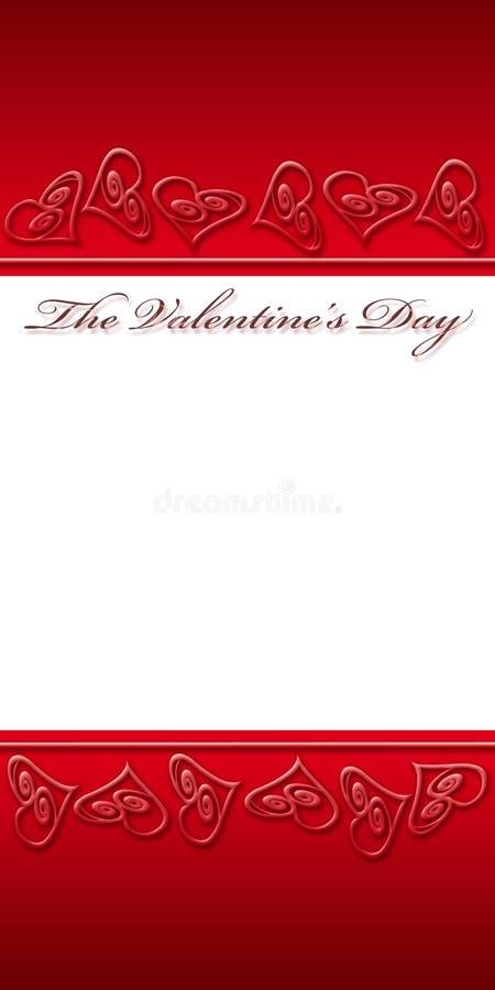 Blocco per grafici rosso per il giorno di biglietto di S. Valentino royalty illustrazione gratis