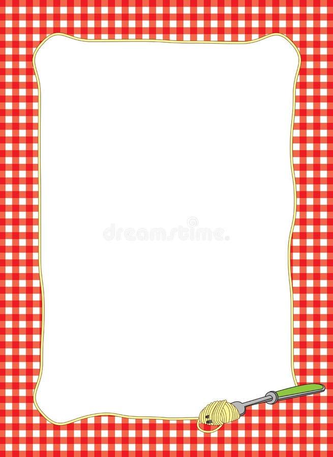 Blocco per grafici roteante degli spaghetti della forcella immagini stock libere da diritti
