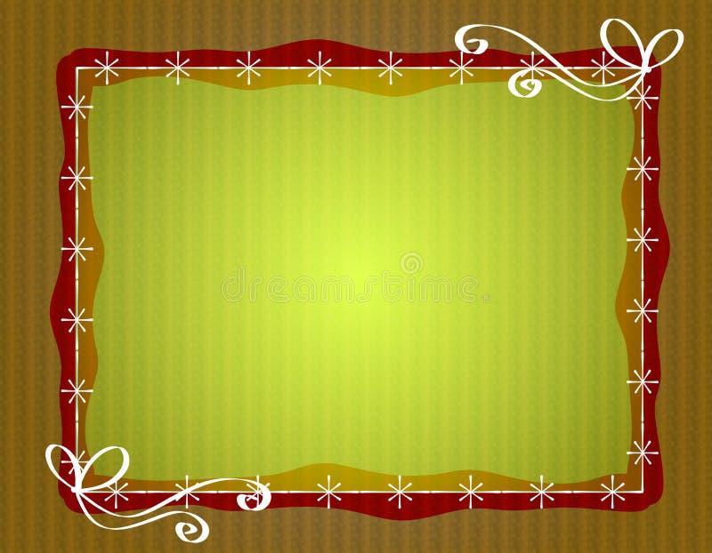 Blocco per grafici rustico del bordo del documento di natale royalty illustrazione gratis