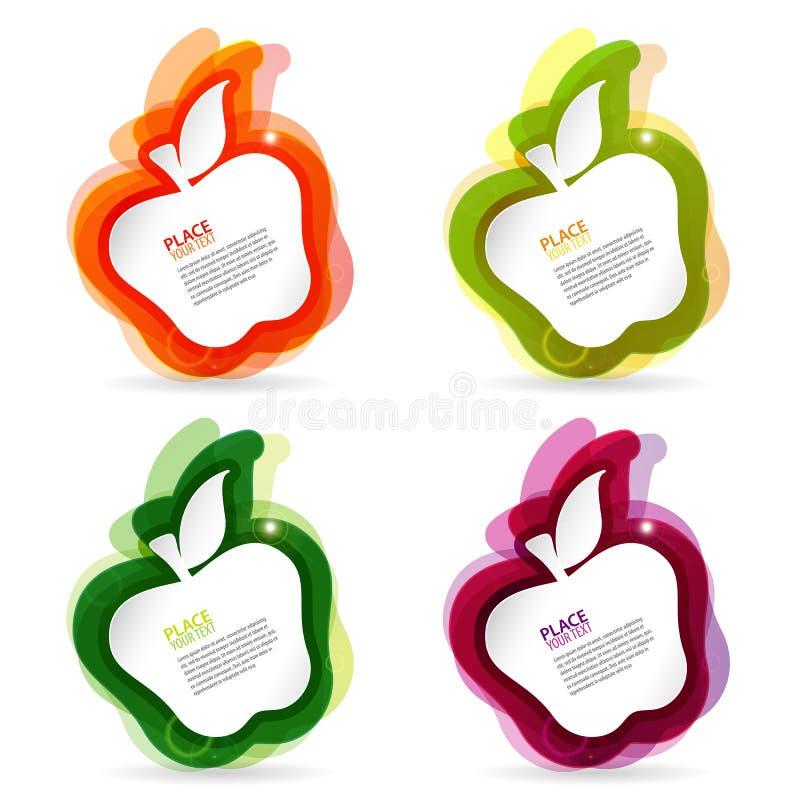 Blocco per grafici variopinto del Apple illustrazione di stock