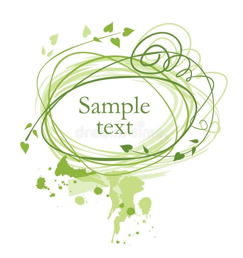 Blocco per grafici verde royalty illustrazione gratis
