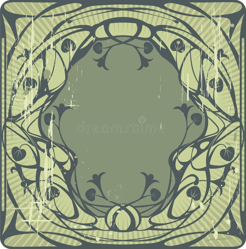 Blocco per grafici verde dell'annata royalty illustrazione gratis