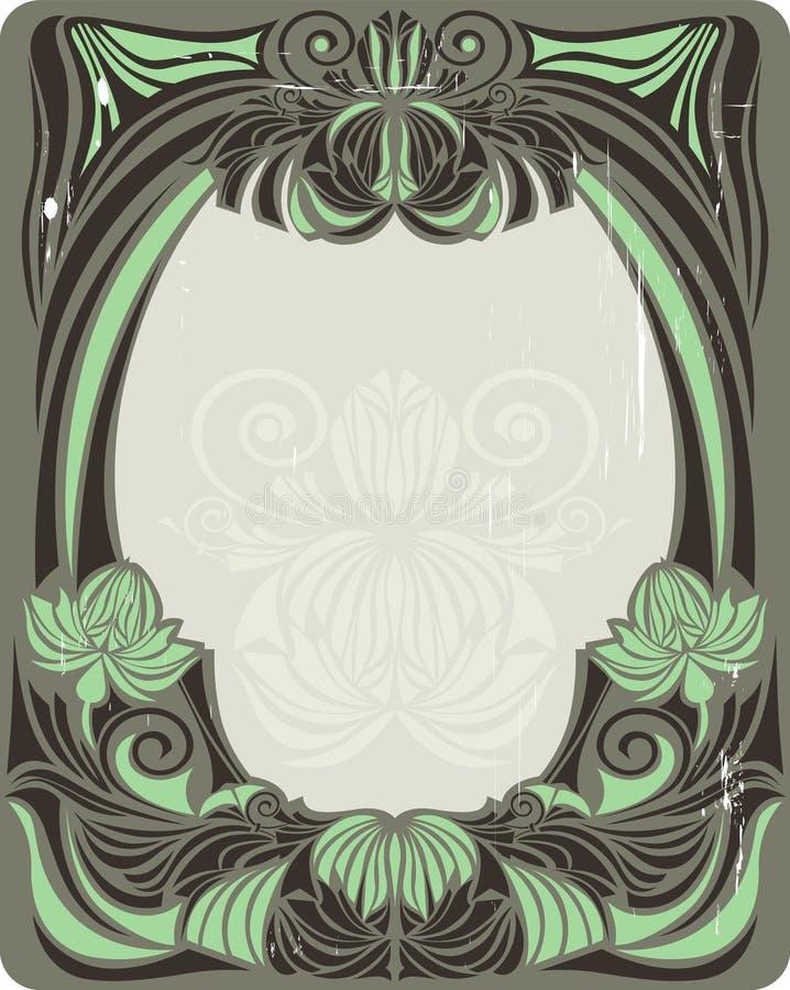Blocco per grafici verde dell'annata illustrazione di stock