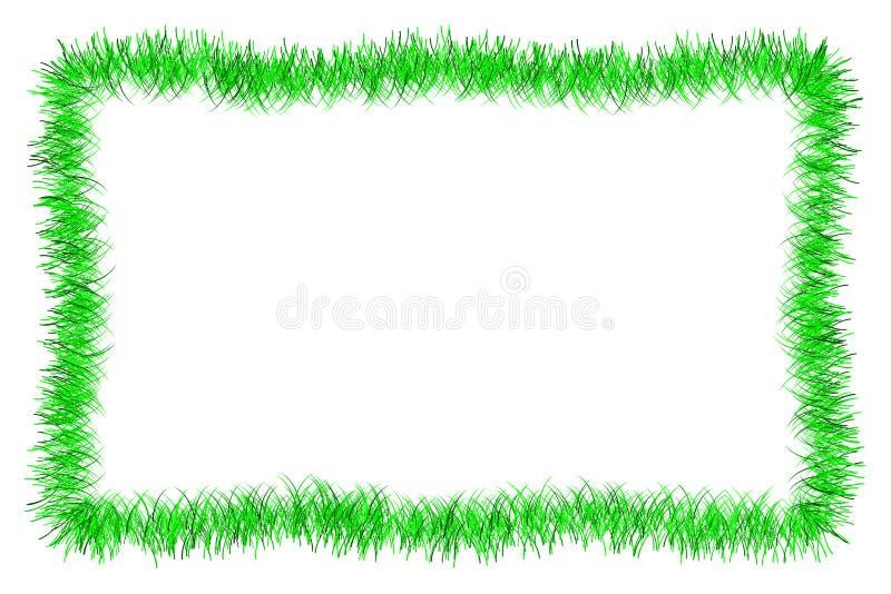 Blocco per grafici verde della canutiglia di natale illustrazione di stock