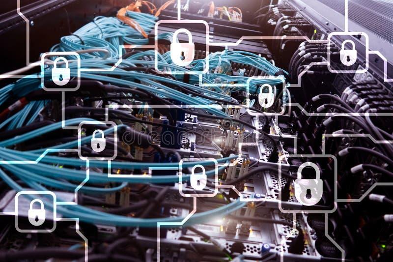 Blochain信息加密 网络安全,隐藏货币 免版税库存图片
