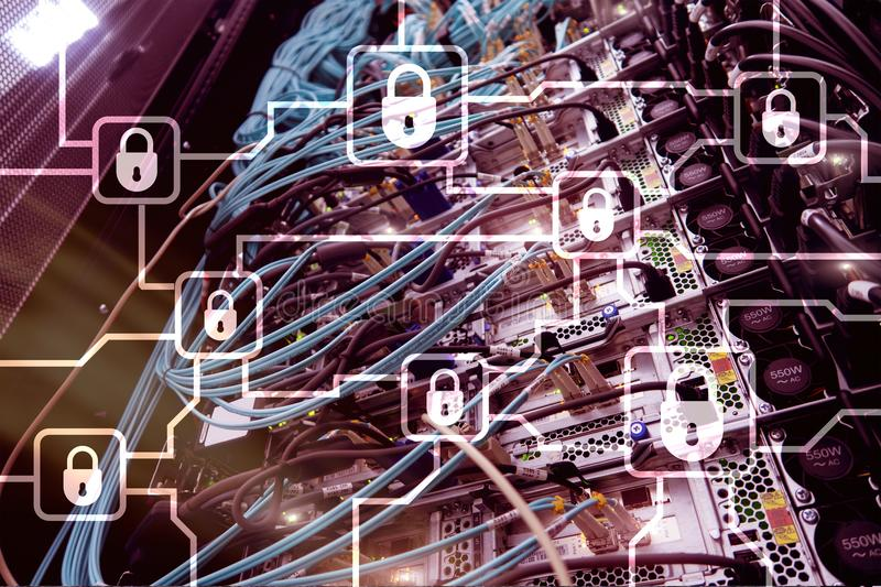 Blochain信息加密 网络安全,隐藏 库存照片
