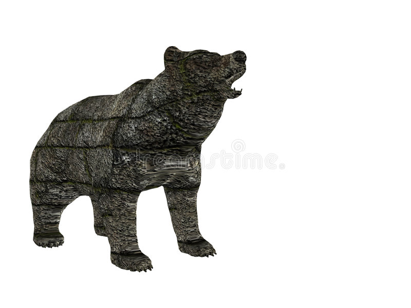 Block Bear stock photo