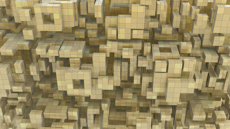 Download Block Build Abstract stock illustration. Image of rendering - 23062840