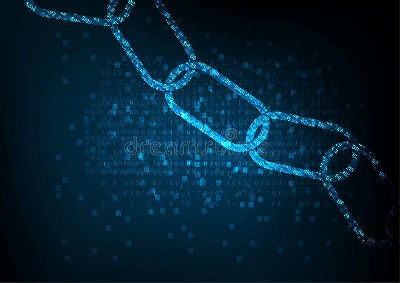 Block chain vector illustration