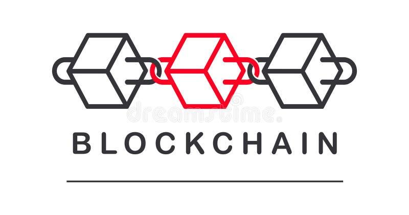 Block Chain logo vector. Minimal logo of block chain. stock images