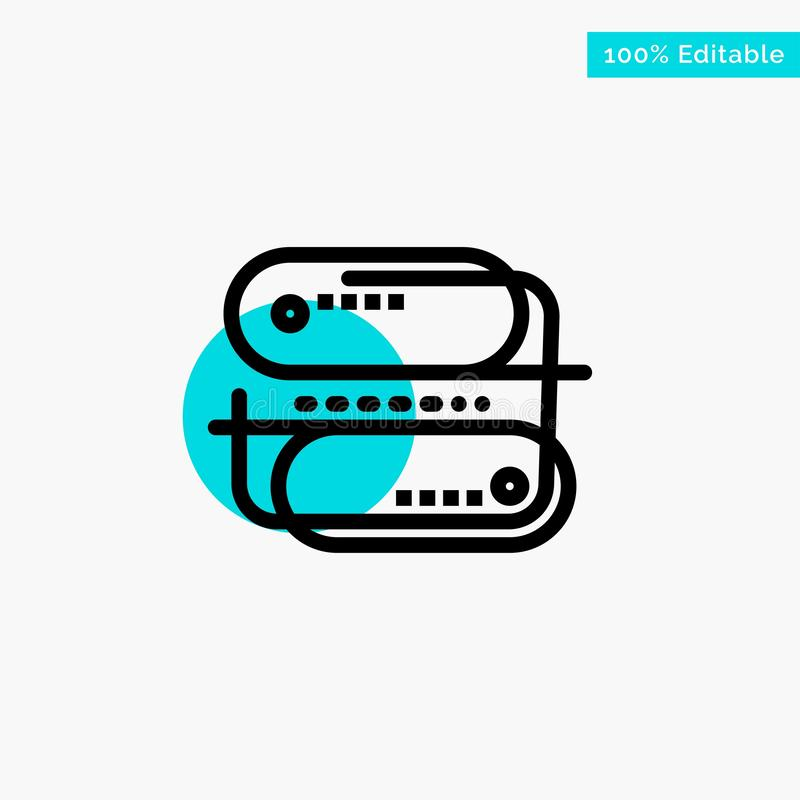 Block chain Technology, Address, Network, Payment turquoise highlight circle point Vector icon royalty free illustration