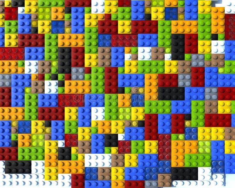block colour plan lego royaltyfri illustrationer