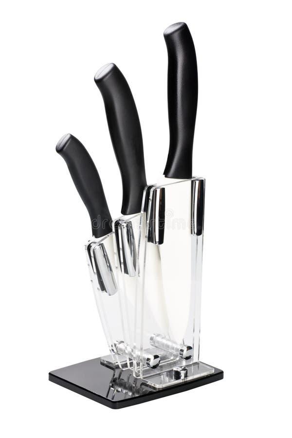 Block der keramischen Messer lizenzfreies stockbild