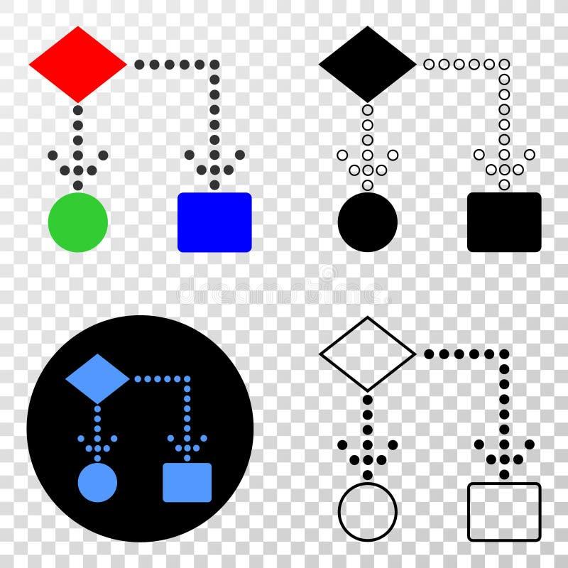 Block Diagram Vector EPS Icon with Contour Version stock illustration