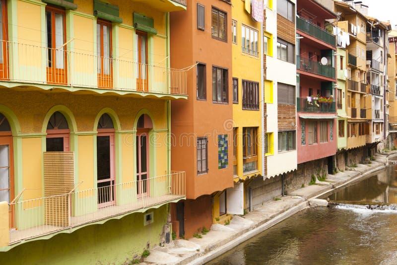 Download Block of flats stock photo. Image of village, door, catalonia - 25855664