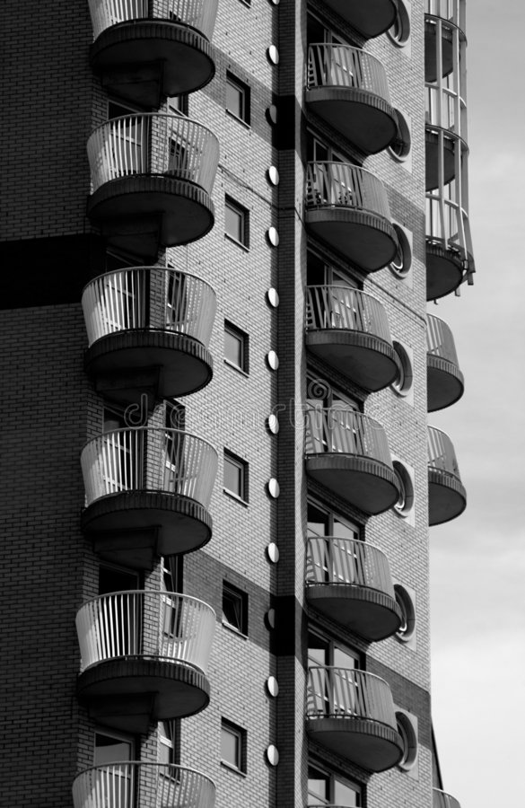 Download Block Of Flats Canary Wharf London Stock Photo - Image: 1510556
