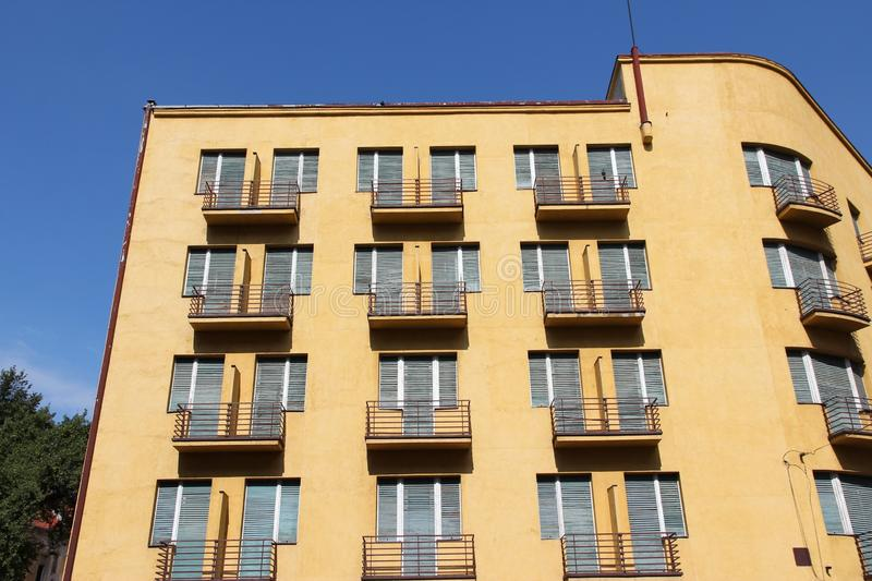 Block of flats. Generic block of flats - average city residential property in Timisoara, Romania stock images