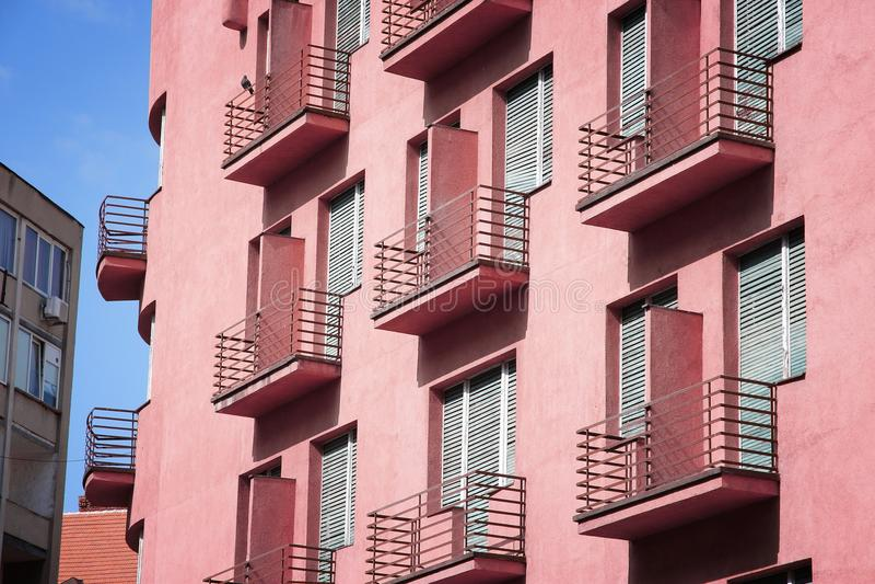 Block of flats. Generic block of flats - average city residential property in Timisoara, Romania royalty free stock image