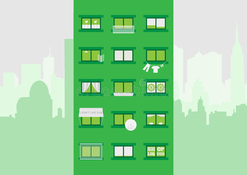 Block of flats vector illustration