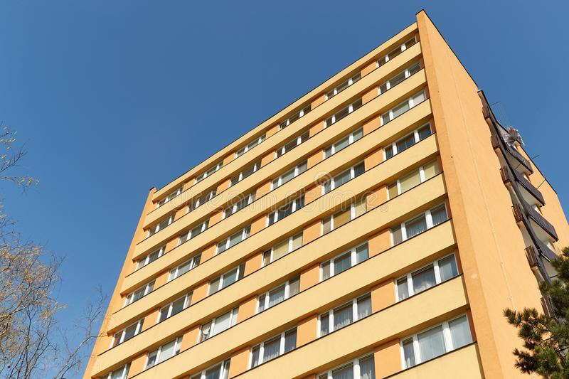 Block of Flats. Residential building block with many flats royalty free stock photos