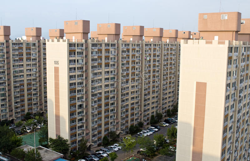 Download Block Of Flats In South Korea Stock Image - Image: 15392227