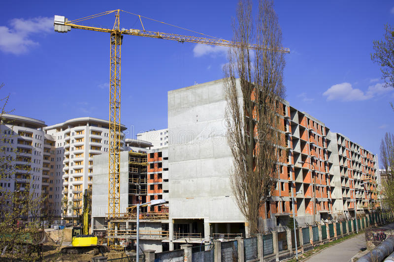 Block Of Flats Under Construction Royalty Free Stock Images