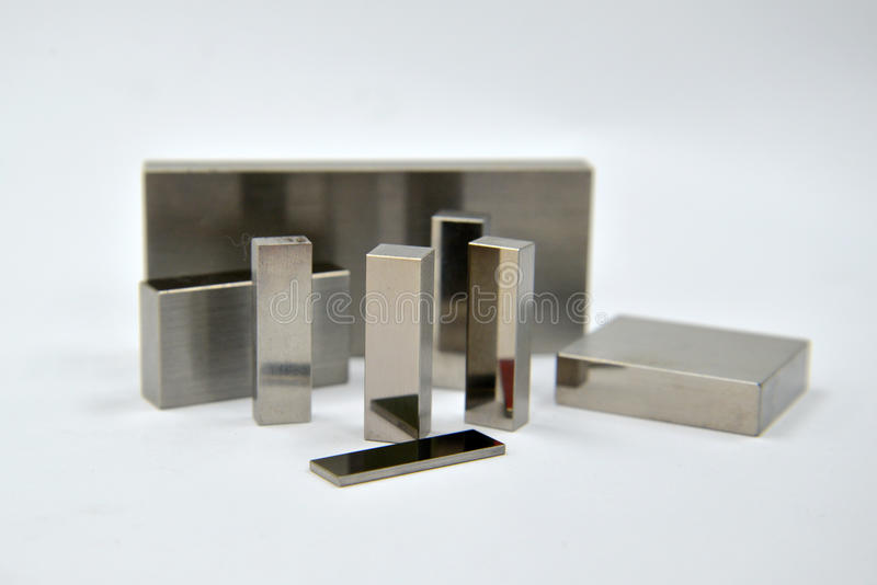 Block gauge. Bock gauge set for machine workshop precision royalty free stock photos