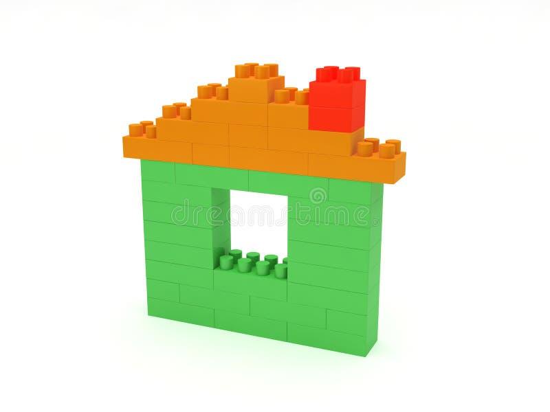 Block-Haus lizenzfreie stockfotos