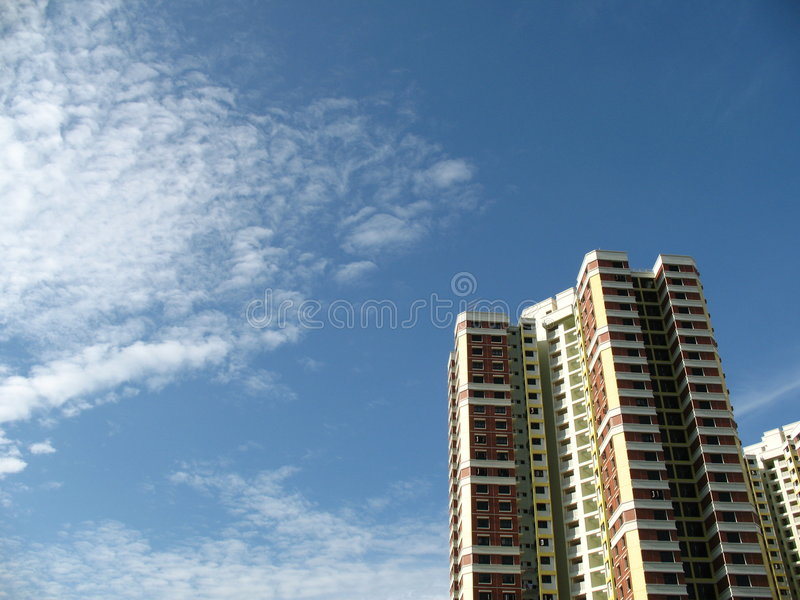 A block of HDB Flats In Singapore royalty free stock photo