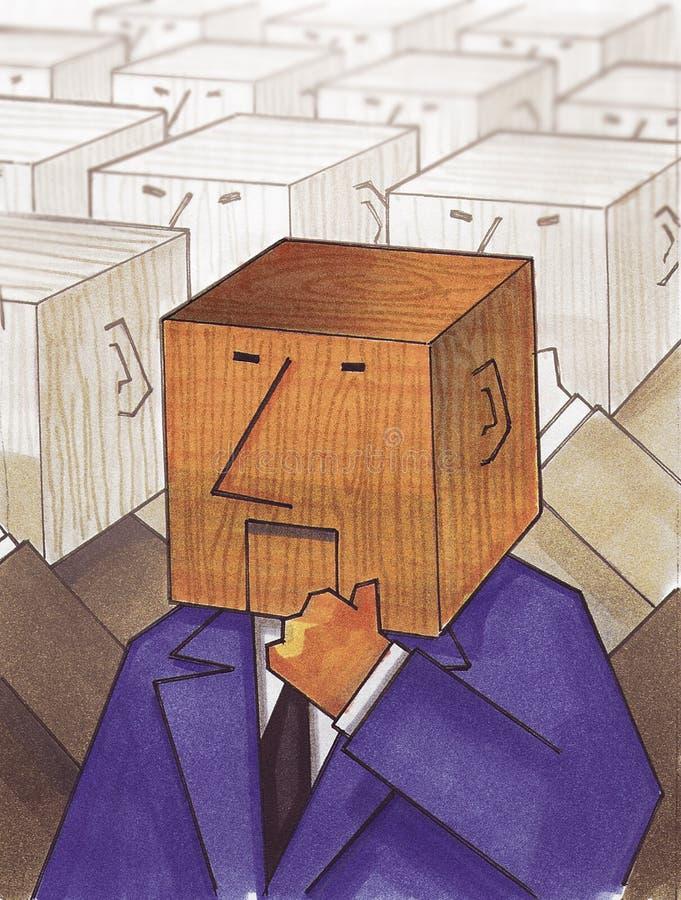 Block head vector illustration