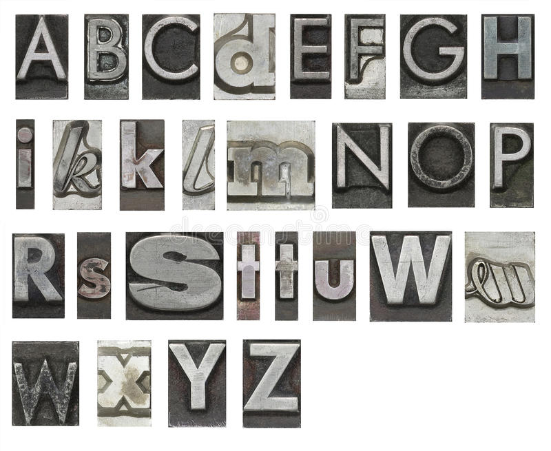 Block letters isolated on white vector illustration