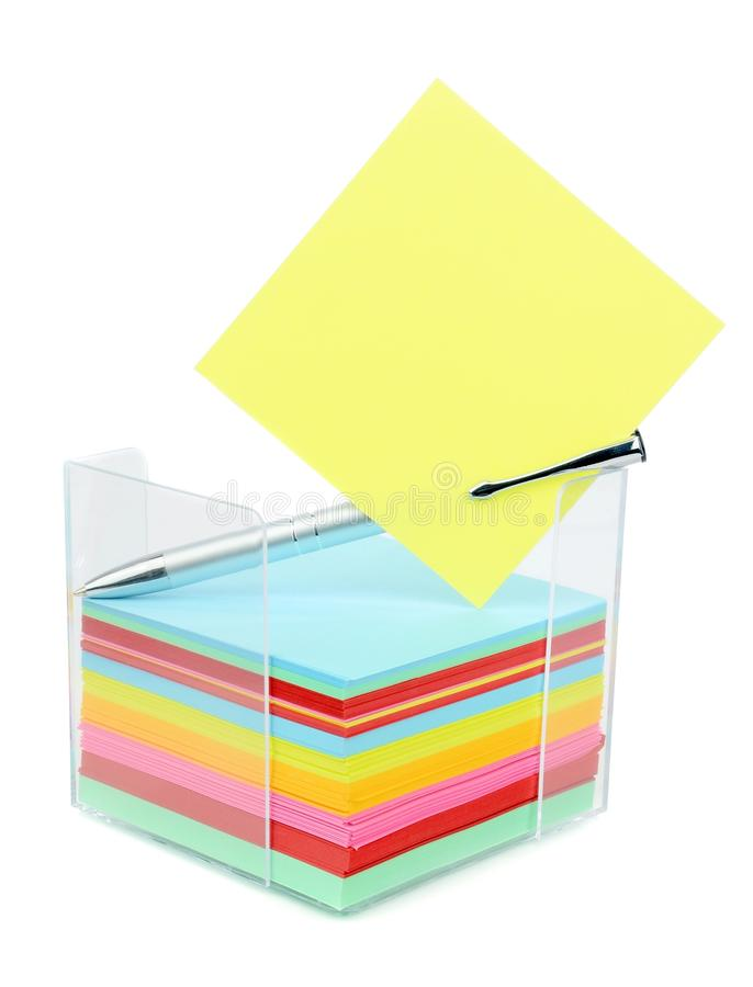 Download A Block Of Memo Message Notes Stock Photo - Image: 31359664