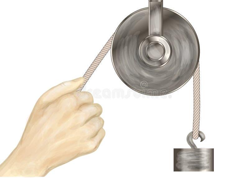 Block och hand vektor illustrationer