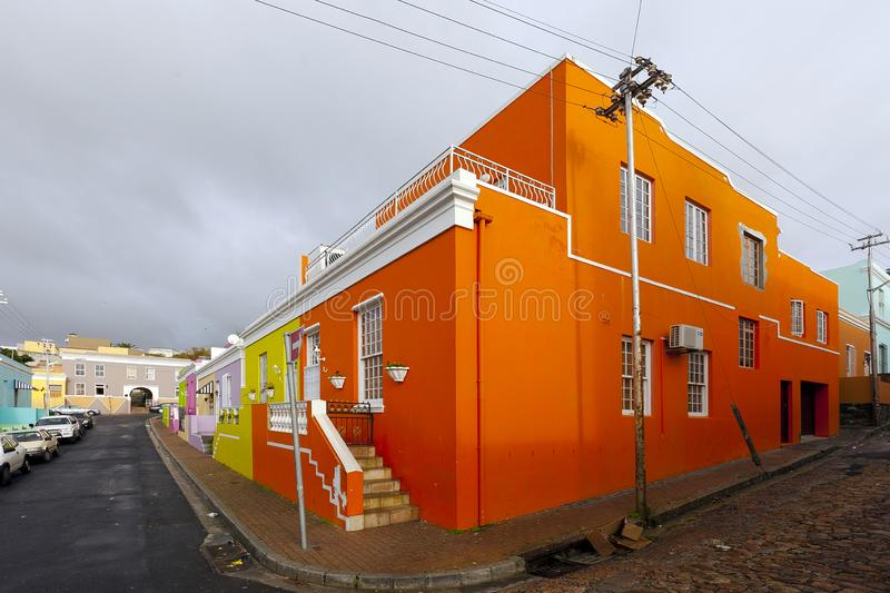 A block of old Kaap houses stock image
