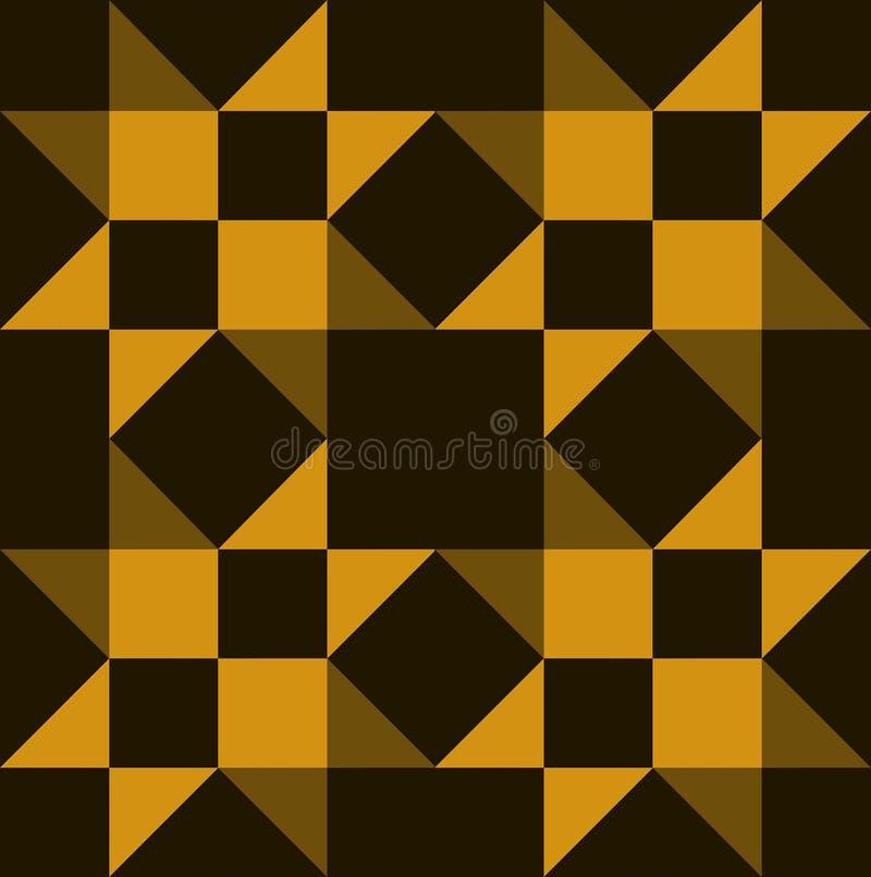 Block pattern template  geometric abstract  pattern royalty free illustration