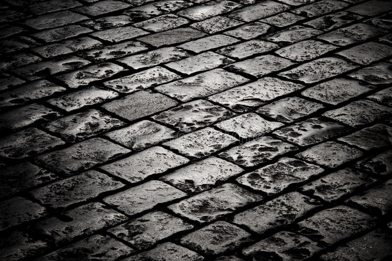 Block Pavement In The Darkness Stock Photography