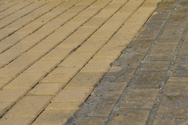 Download Block Paving Cleaning stock image. Image of stream, pavers - 31800749