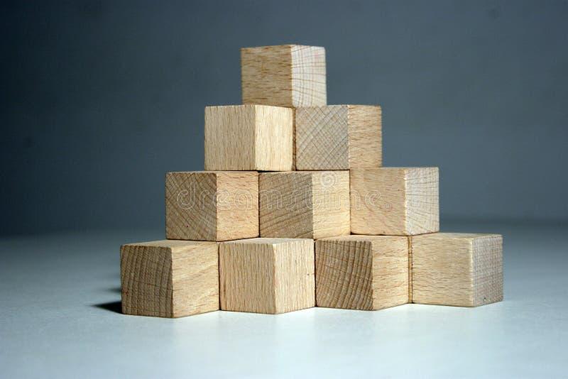 Block pyramid royalty free stock photos