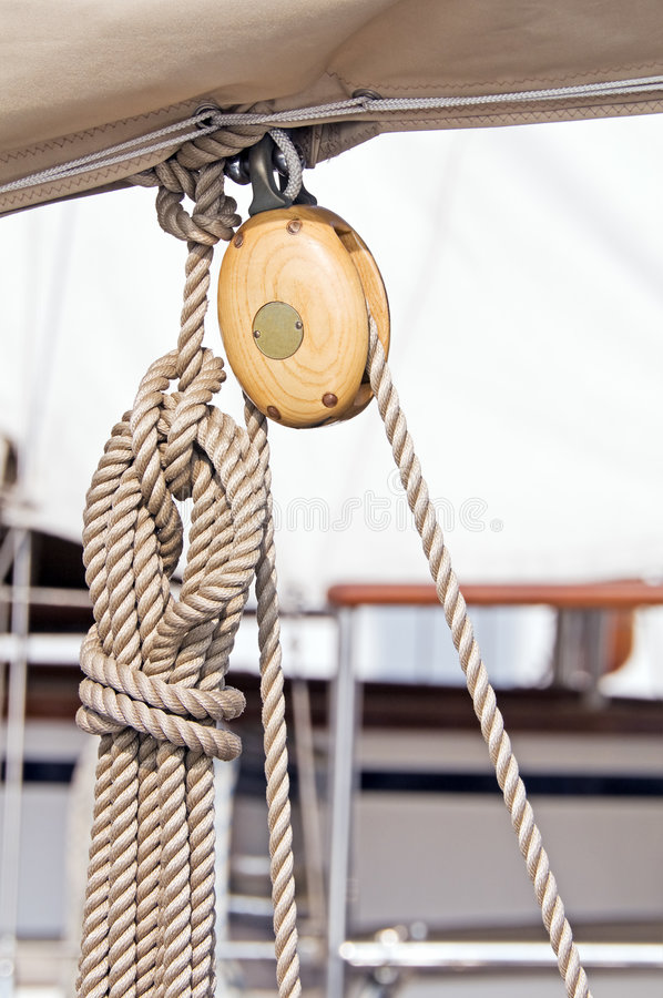 Block and rope royalty free stock photography