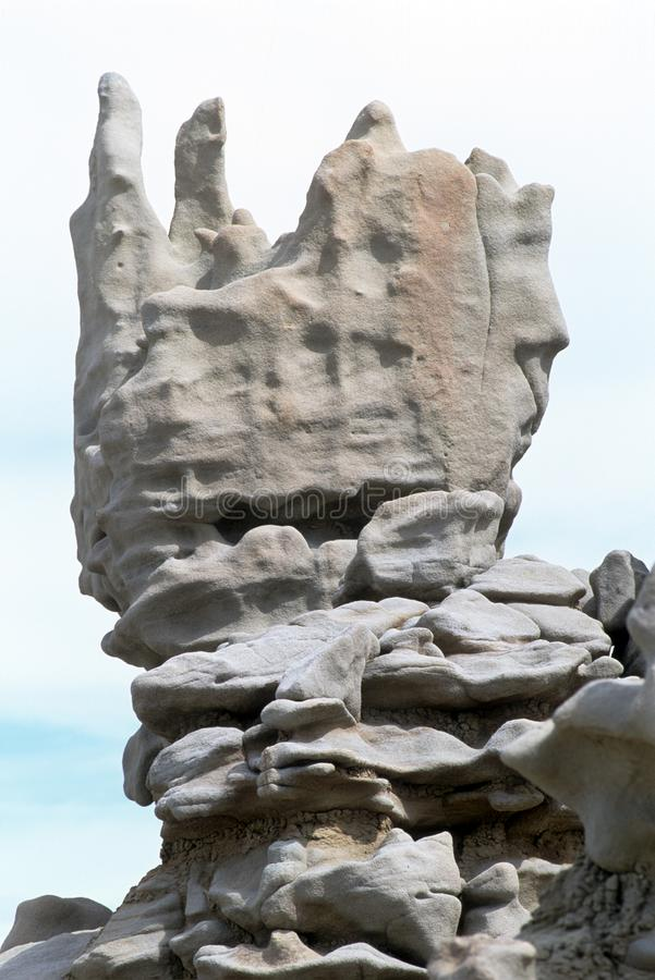 Block shaped rock formation in Fantasy Canyon, Utah stock photo