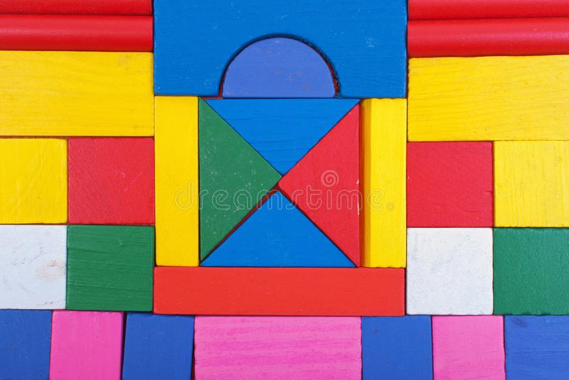 Block shapes texture stock images