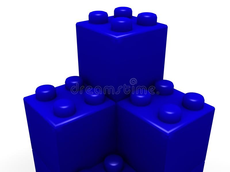 block som bygger lego vektor illustrationer