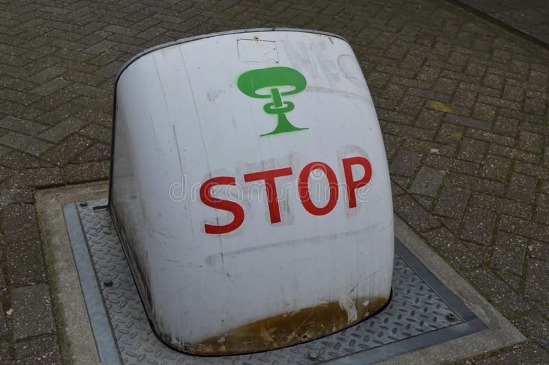 Blockage in Netherlands. The image of traffic blockage royalty free stock photos