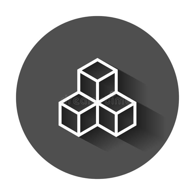 Blockchain技术在平的样式的传染媒介象 密码学古芝 向量例证